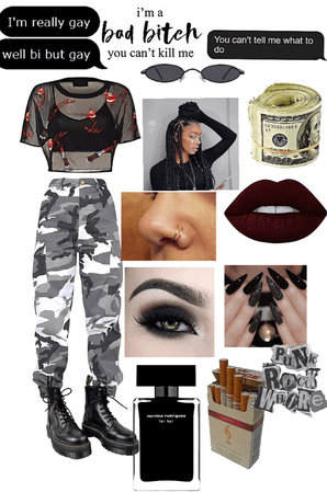 black emo girl