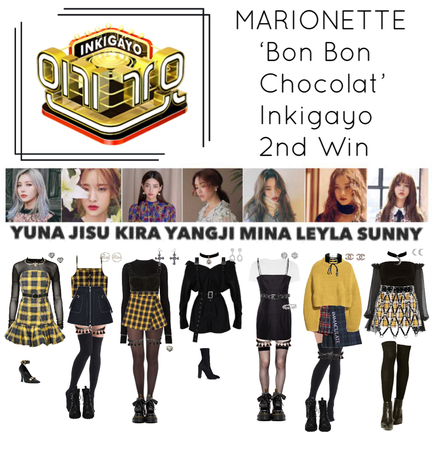 {MARIONETTE} 'Bon Bon Chocolat' Inkigayo 2nd Win
