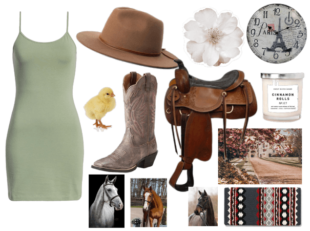 getting dresses up-country style