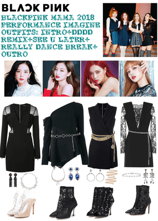 #BLACKPINK MAMA 2018 PERFORMANCES OUTFIT