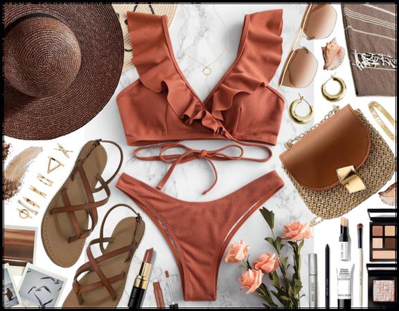 Summer brown: Beach