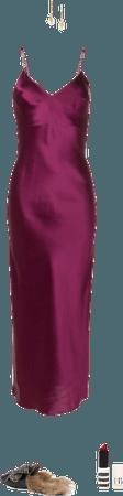 (wine negligee)