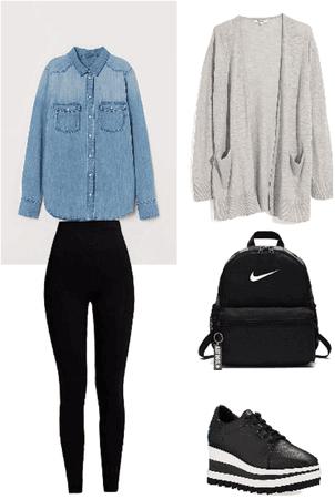 Outfit camisa de jeans