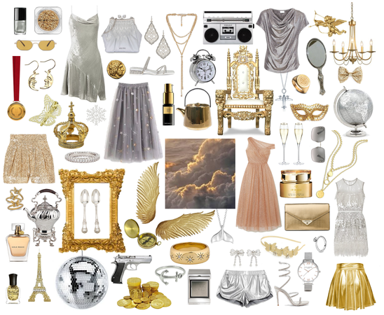 Silver & Gold Collage