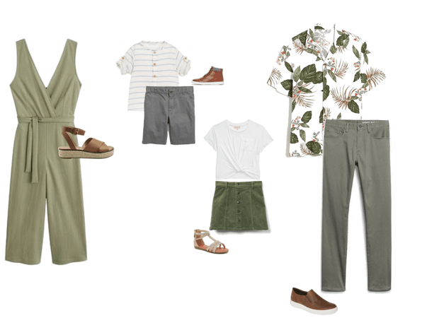 Family-Pale Green & Grey