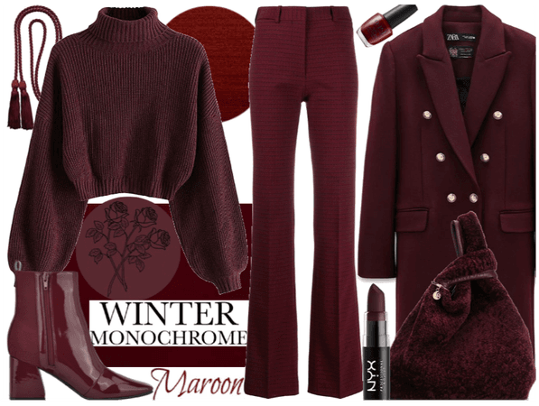 winter monochrome: maroon