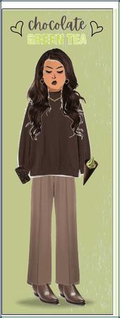 Chocolate Green Tea Ice Cream Outfit