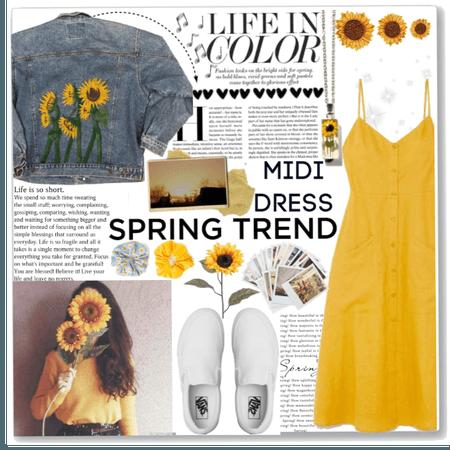 Spring Midi Dress|Trending This Spring