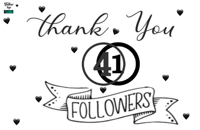 41 followers! 💛