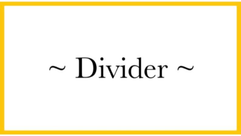 📁~ divider ~📁