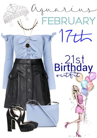 21st birthday, Aquarius
