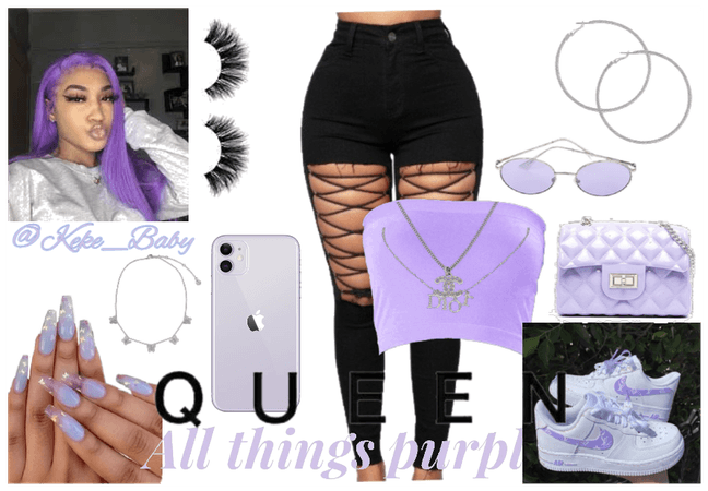 Light Purple Baddie!!!💜🤍