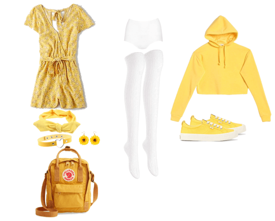 Cute yellow school outfit