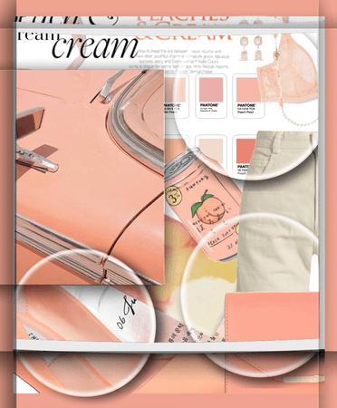 peach & cream.