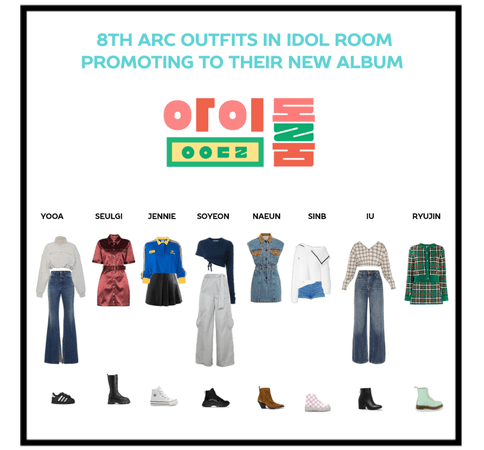 8th arc outfits in idol room