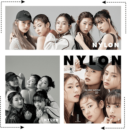 𝐇𝐄𝐀𝐑𝐓𝐅𝐋𝐘 [하트플라이요] HEARTFLY NYLON MAGAZINE JAPAN; GROUP PHOTOSHOOT