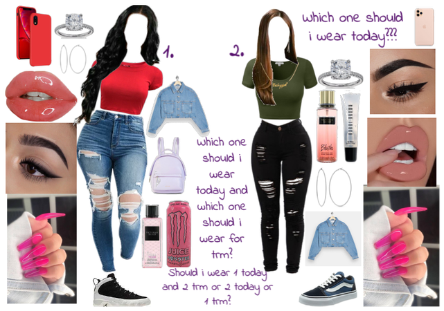 Which one should i wear today and my outfit trm???