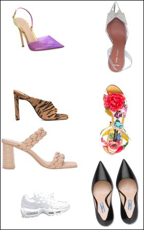 Seres estilos de sapato.