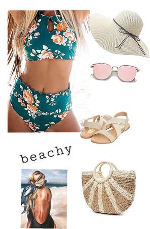 getting a tan at the beach