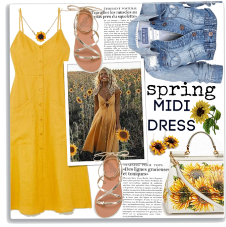 Spring Midi Dress 🌻🌾