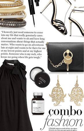 entwined in black and gold