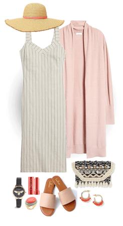 Sleek but comfortable look for casual summer activities.