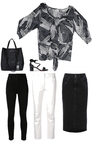 Blusa negro y blanco