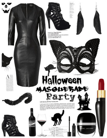 Halloween masquerade party-black cat