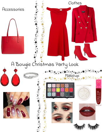 A bougie Christmas party look