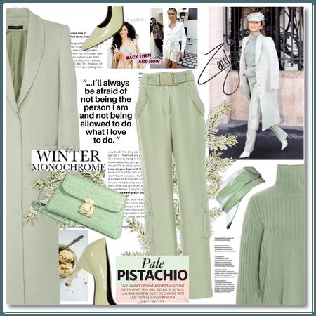 Winter Monochrome: Pale Pistachio