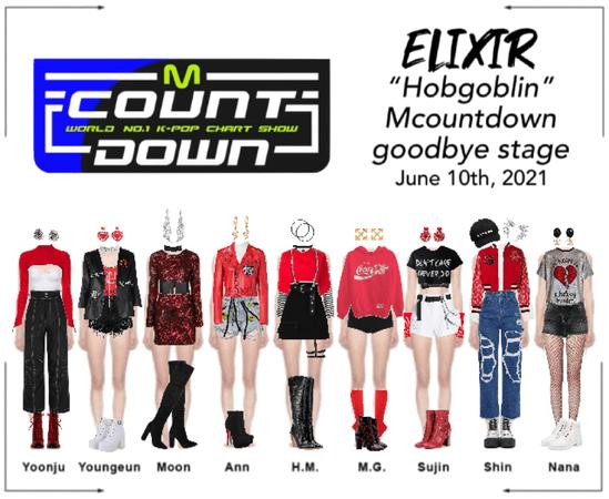 "ELIXIR (엘릭서) ""Hobgoblin"" Mcountdown goodbye stage"