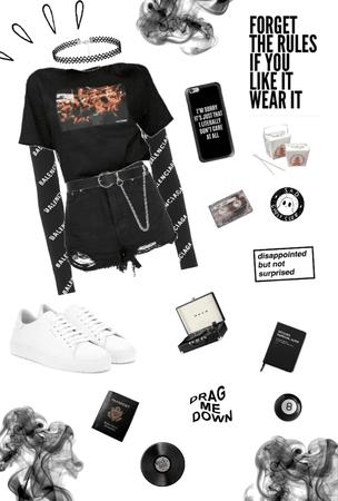 •Grunge look•