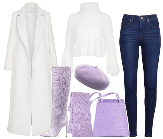 Purple & white... interesting combo