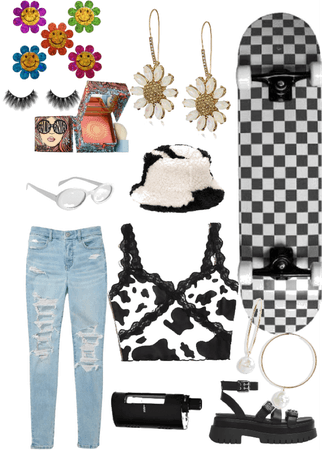 here's a cow print indie outfit what should I do next