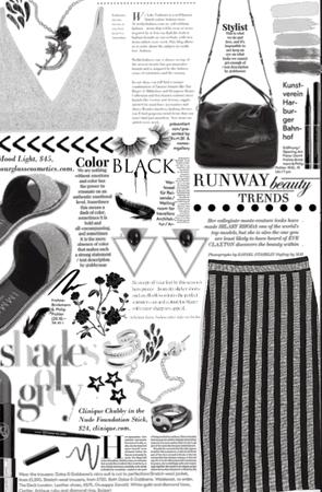 Shades of grey and black