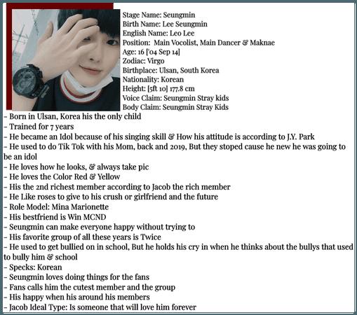 SECRET CØDE [Seungmin] Profile