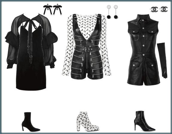 leather & black
