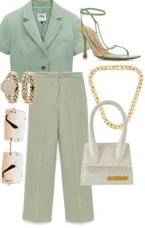 Zara + Jacquemus Suit Outfit