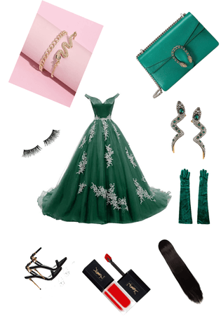 slitherin Yule ball outfit