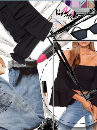 |For Jean & Cute Top Challenge|Off Shoulder Hottie
