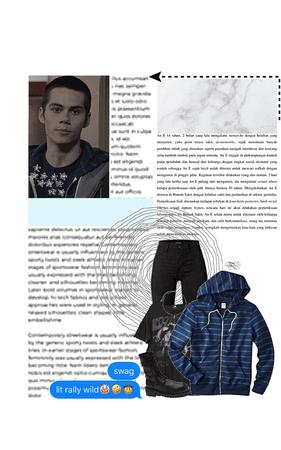 judah finley eden — stealing stiles' jacket as a joke