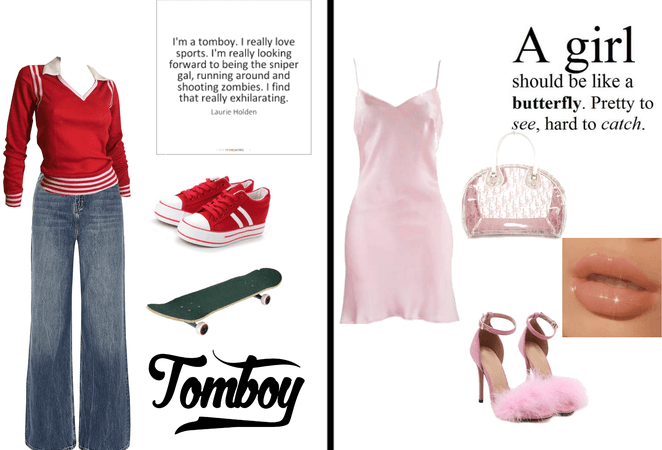 tomboy and girly :)