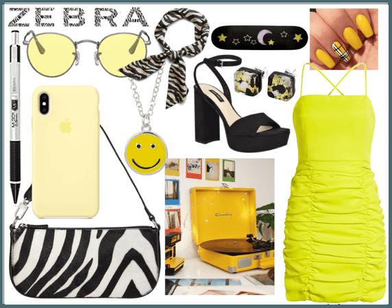 Yellow Zebra Wildin'