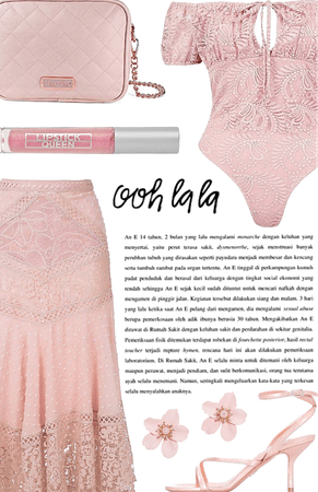 embroidered pink