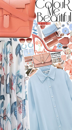 peach and blue classy Beauty✨🤍