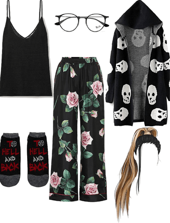 Crystal Lockwood inspired pajama outfit