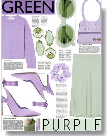 green & purple mood 💚💜