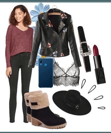 Leather Jacket Winter Style