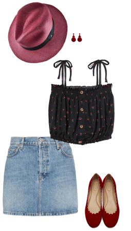 Red, Denim and Black with #EcuaAndinoHats