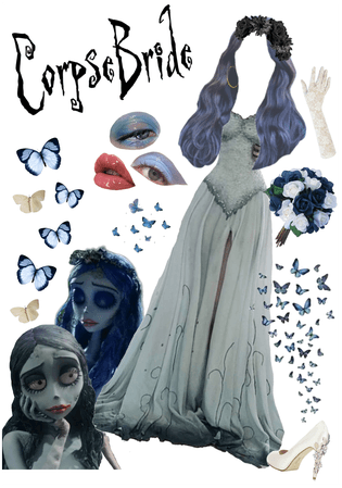 Dressed As The Corpse Bride....